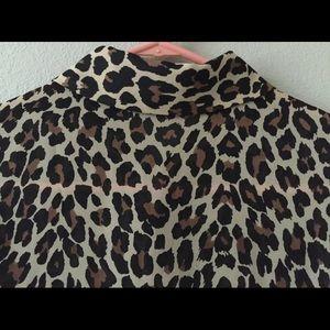 Casual Corner Annex Tops - Button Down Shirt CASUAL CORNER ANNEX Animal Print